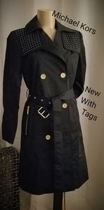 NWT Micheal Kors Studded Trench Coat
